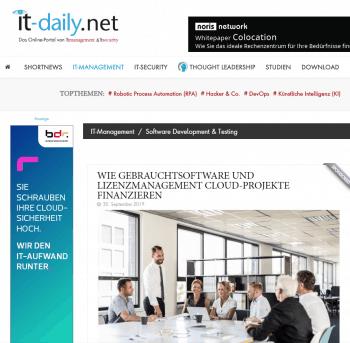 Cloud-Projekte finanzieren mit Gebrauchtsoftware von VENDOSOFT