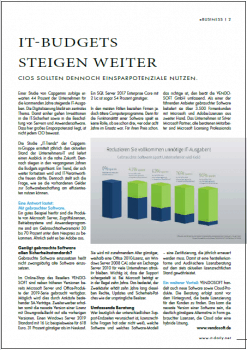 IT-Management über steigende IT-Budgets