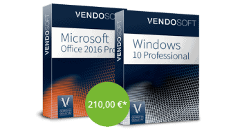 Microsoft Windows 10 Pro ud Office 2016 Pro Plus im Bundle günstiger