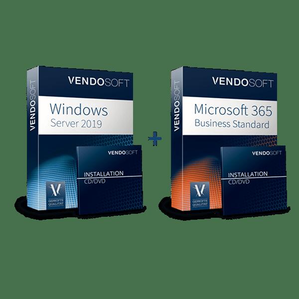 Hybride Cloud Lösungen Produktbundle Windows Server 2019 und Microsoft 365 Business Standard