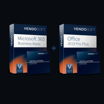 Hybride Cloud: Microsoft 365 Business Basic CSP European Cloud & Microsoft Office 2019 Professional Plus (gebraucht)