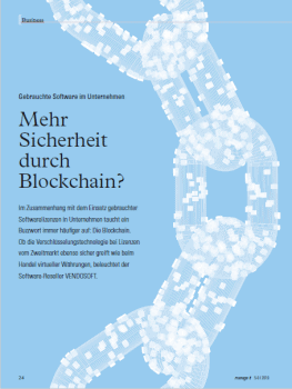 Sicherheit im Gebrauchtsoftware-Markt durch Blockchain